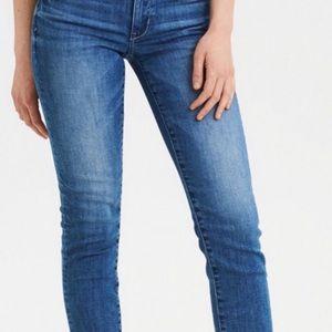 American Eagle Short Court Frayed Hem Jeans